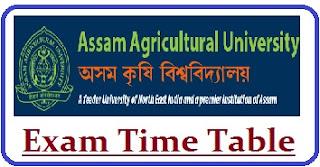 AAU Jorhat Exam Date 2021