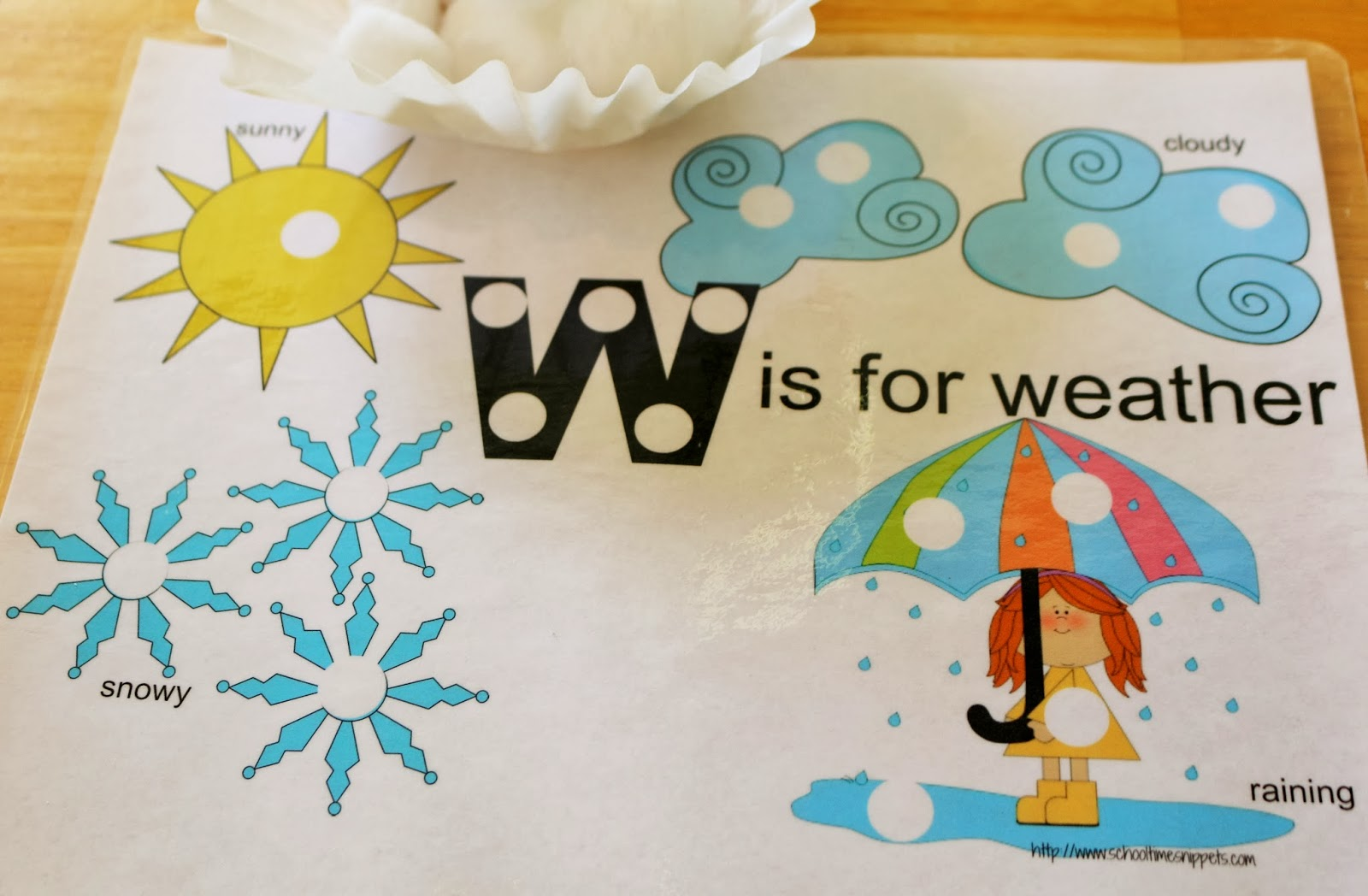 Letter W Toddler Activities