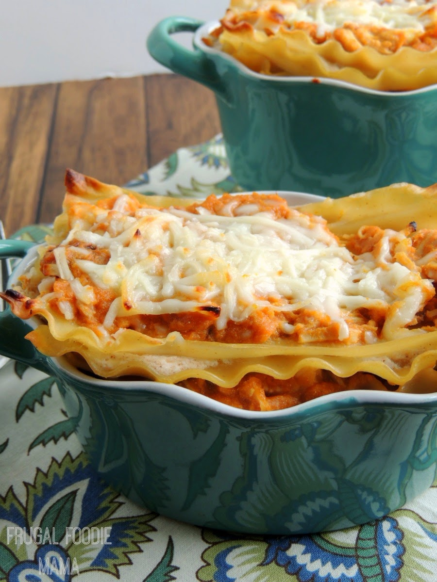 Chipotle Pumpkin and Chicken Lasagna via thefrugalfoodiemama #IHeartDreamfields