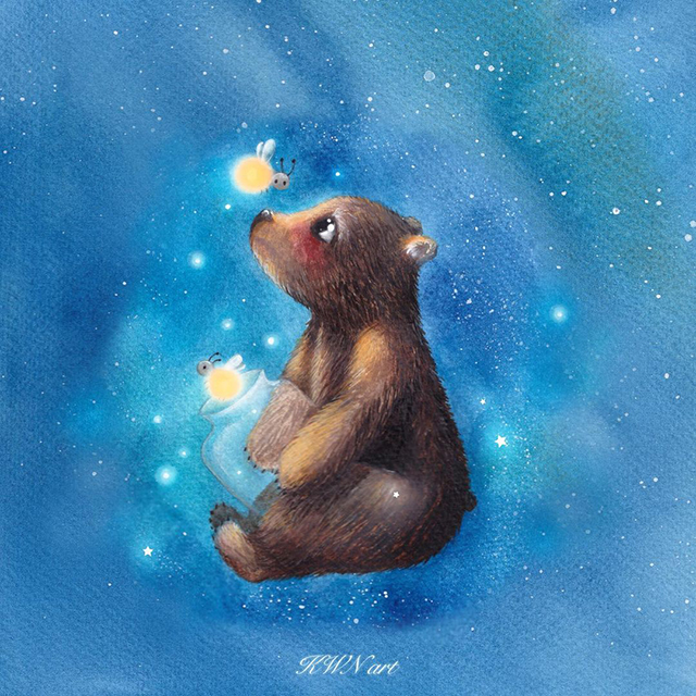 The bear and the fireflies