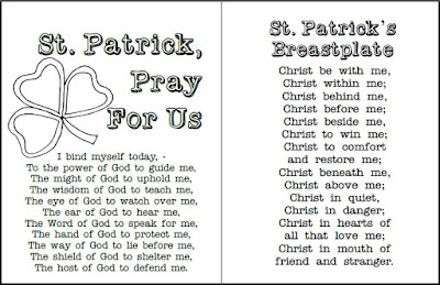 photo relating to Printable Prayer Cards named Feel in the direction of Him and be Radiant: St. Patrick Prayer Playing cards