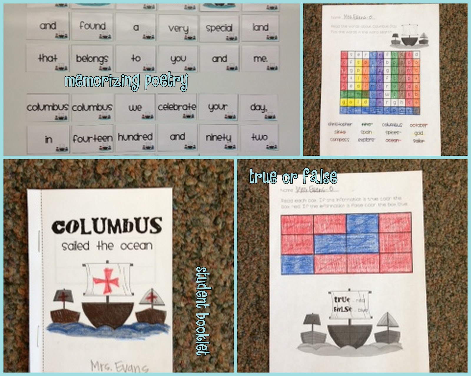 Lory S 2nd Grade Skills Columbus Day Freebie