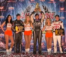 Brian Clausen denied Kevin Swindell his fifth straight title and took the checkered flag