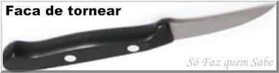 Foto de uma Faca de tornear ou faca bico de pássaro que em inglês é chamada de Bird's Beak Knife