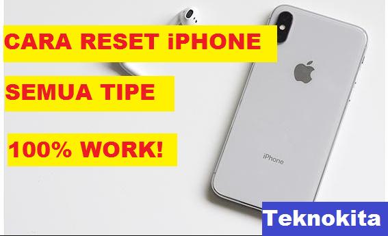 cara reset iphone