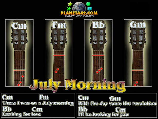 July Morning Guitar Chords Picture | Famous Guitar Chords Songs