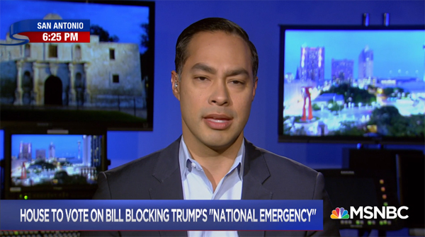 screenshot of Julian Castro appearing on Hardball