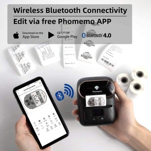 Review Phomemo M110-BK Wireless Thermal Label Printer