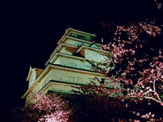 鶴ヶ城で夜桜 / 会津若松市