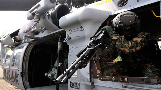 Miguel Aleman parece zona de guerra, balaceras motivan el sobrevuelo de aeronaves artilladas