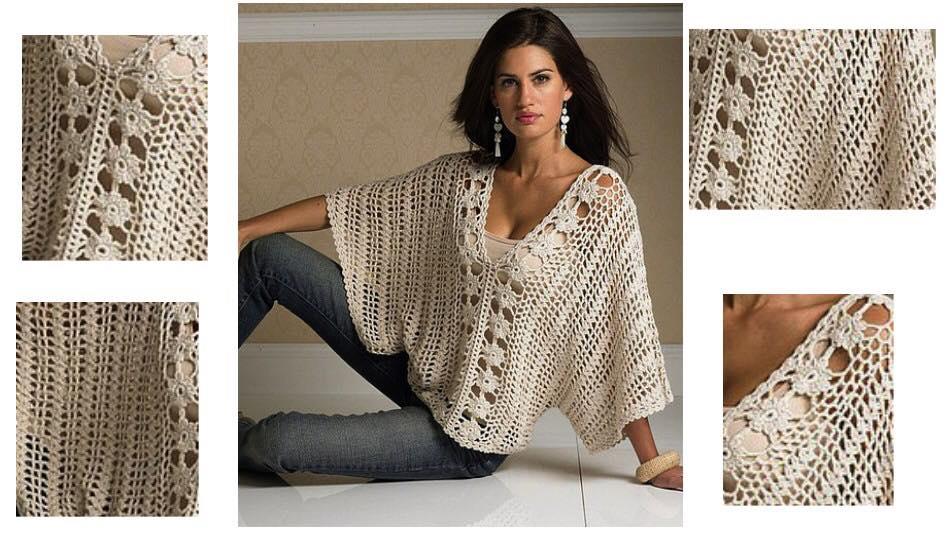 Easy Crochet Blouse By Pattern Magic Of Crochet