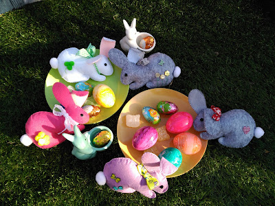 conejos, bunnies, fieltro, felt, feutre, pascua, pâques, easter