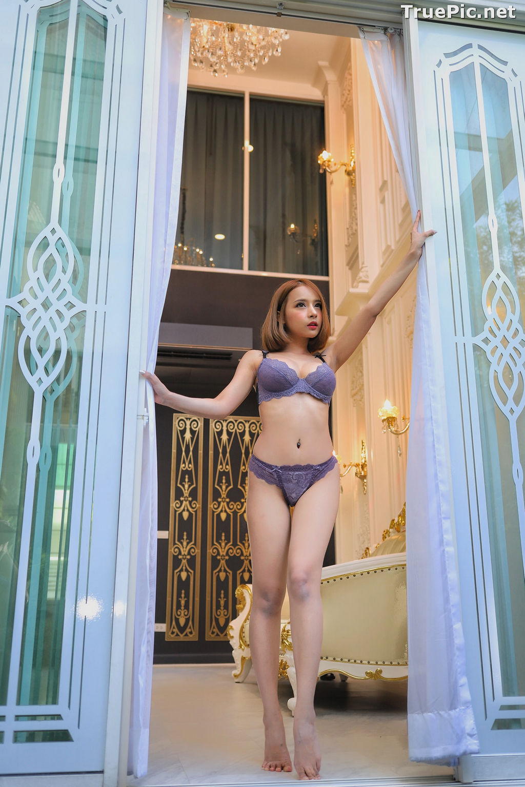 Image Thailand Model - ธนพร อ้นเซ่ง - Sexy In Purple Lingerie - TruePic.net - Picture-7
