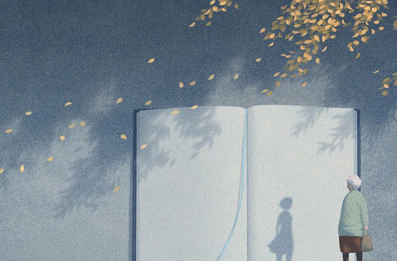 Artista coreano pinta ilustraciones surrealistas de libros que están llenos de tranquilidad