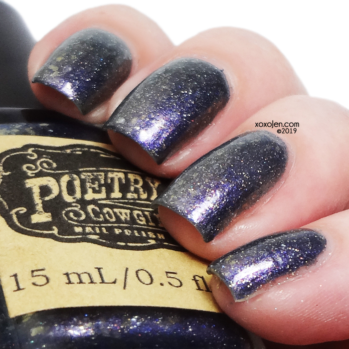 xoxoJen's swatch of Poetry Cowgirl Nail Polish Old Blue Chair