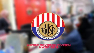 Kadar Bayaran Dividen KWSP 2018/2019