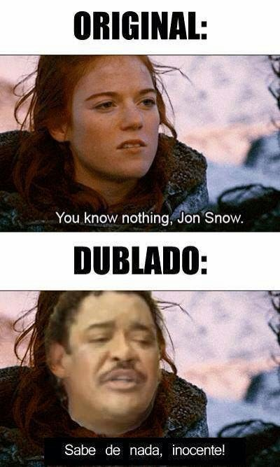 Jon Snow sabe de nada inocente