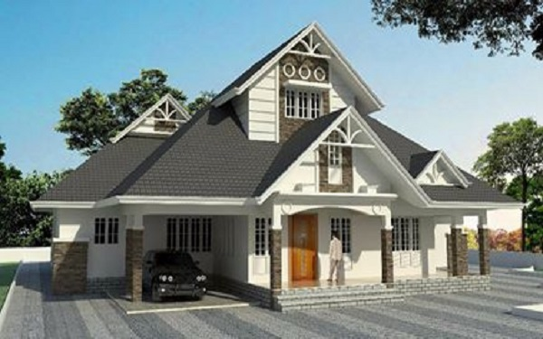 Wonderful Colonial Looking Kerala Home With Designing Magic That Give Long Verandah 4 Bedrooms 3 Attached Bathrooms Dressing Area Store And What Not