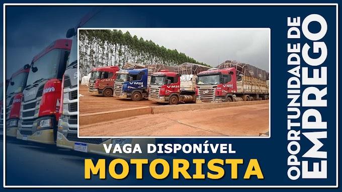 VMH Transportes está contratando motorista carreteiro