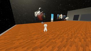 clusterで作られたにくきゅうさんのVR展示空間
