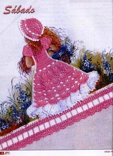 Patron Crochet Miniaturas Vestidos Muñecas en Dibujo