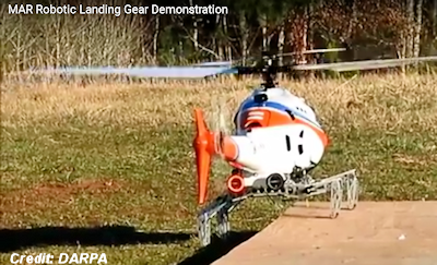 Helicopter's 'Robotic Landing Gear' Can Set Down Almost Anywhere