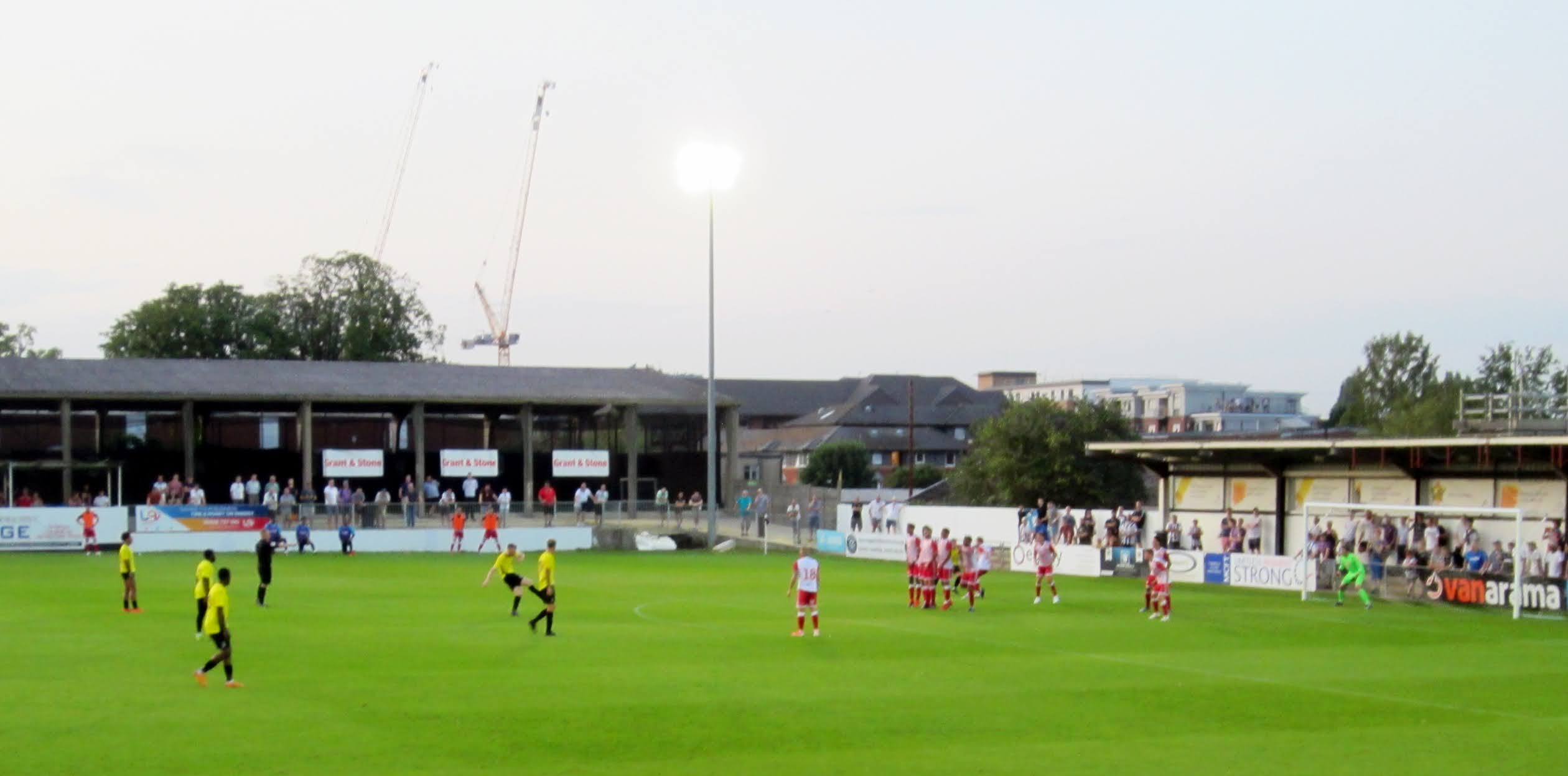 Danny Whitehall lines up a free kick for Maidenhead United