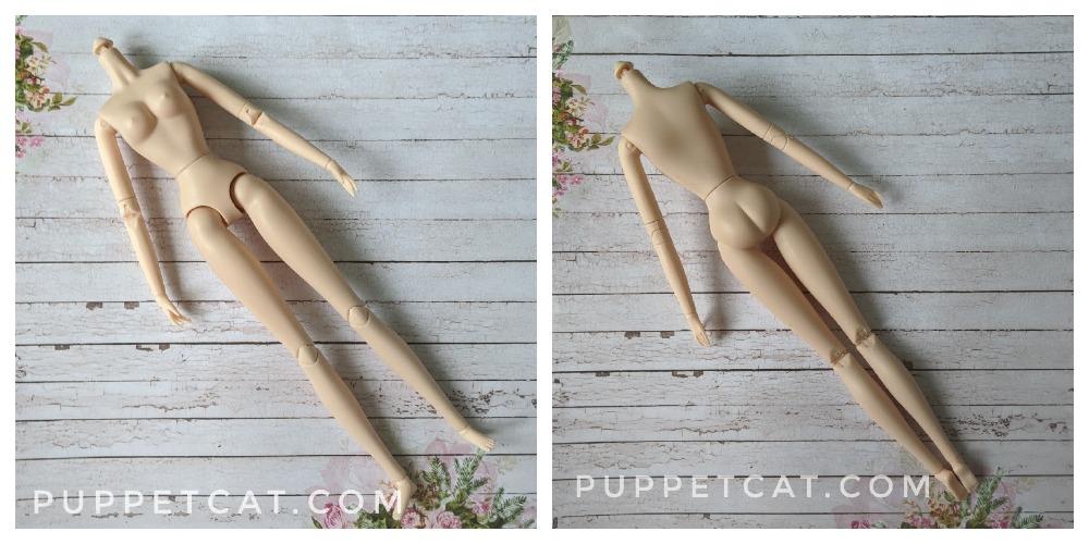 светлое тело куклы 29 см