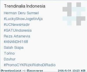 Jadi Trending Topic, Bukti Herman Deru Paling Populer di Sumatera Selatan