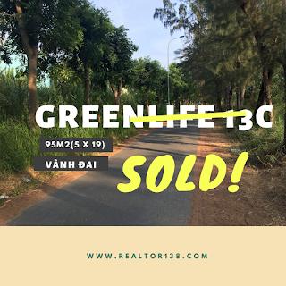 bán đất đường vành đai trong kdc greenlife 13c bình chánh