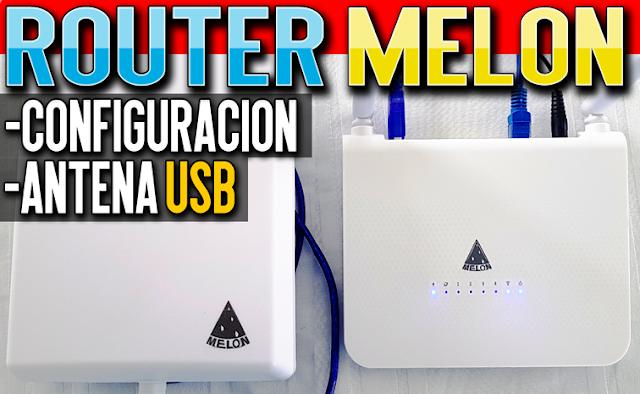 Configurar Router Melon R658/R658U con Antena Externa Wifi USB