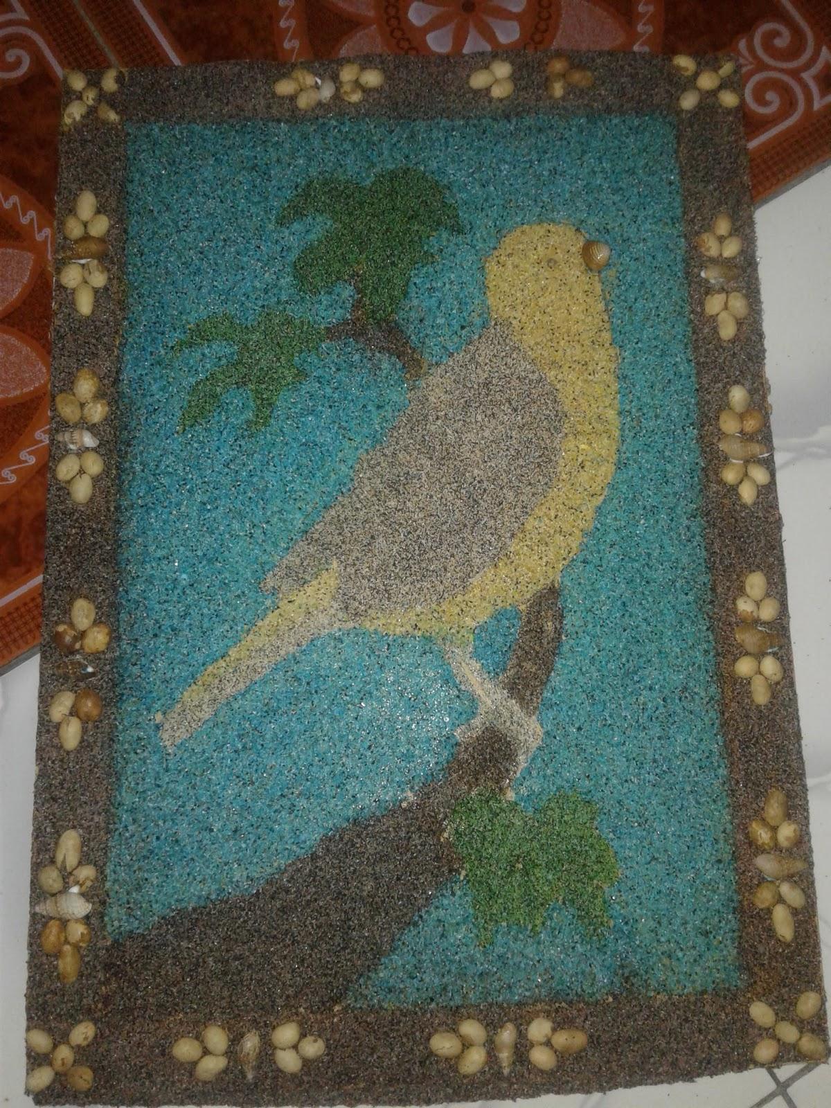 Langkah  Mhasil Kolase Burung Diatas Pohon