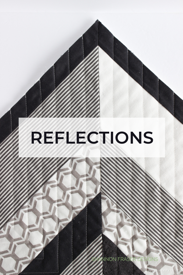 Reflections Quilt - a Suzy Quilts pattern | Q4 Finish-a-Long List of Projects | Shannon Fraser Designs #modernquilting