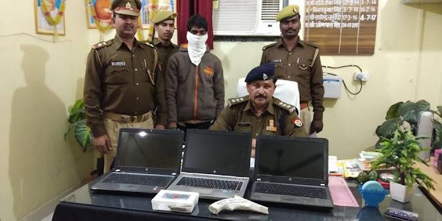 कुशीनगर के अहिरौली और पटहेरवा में पुलिस ने नामी अभियुक्त को किया गिरफ्तार