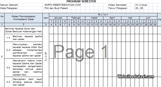 Promes Pai Dan Bp Kelas 9 Kurikulum 2013 Revisi 2019 Websiteedukasi Com