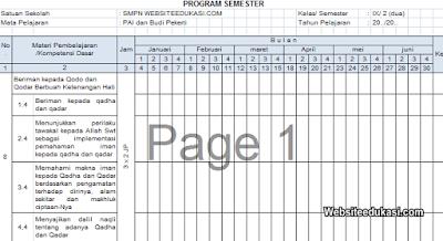 Promes PAI dan BP Kelas 9 Kurikulum 2013 Revisi 2019