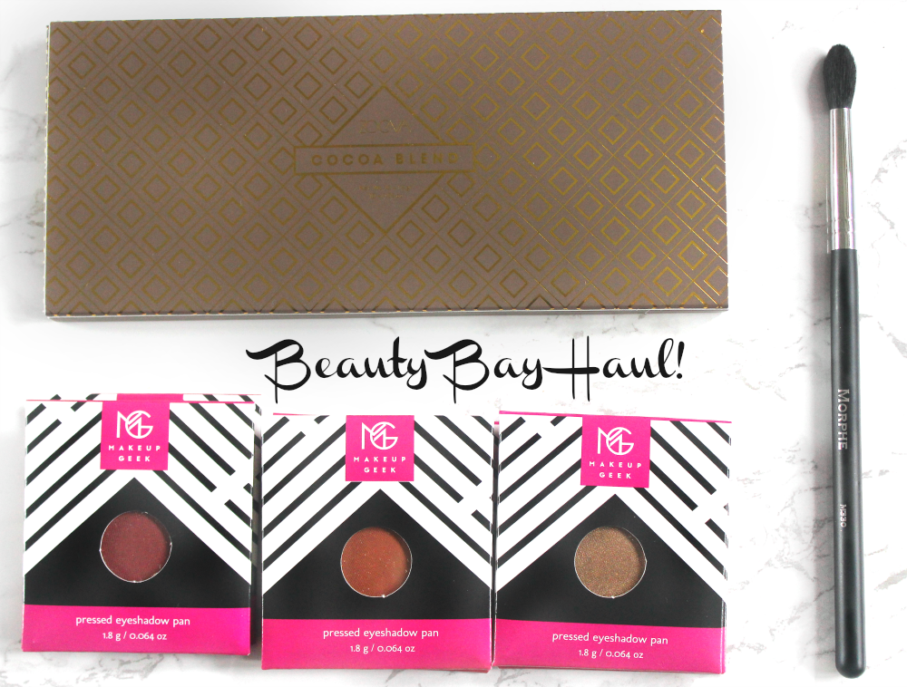 beautybay haul zoeva cocoa blend eyeshadow palette, morphe m330, MUG eyeshadows UK