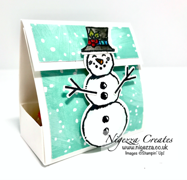 Nigezza Creates with Stampin' Up! Snowman Season Chocolate treat holder