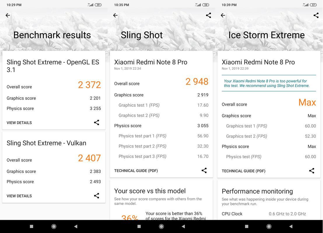 Benchmark 3DMark Xiaomi Redmi Note 8 Pro