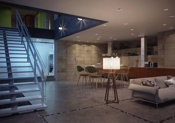modern staircase handrails