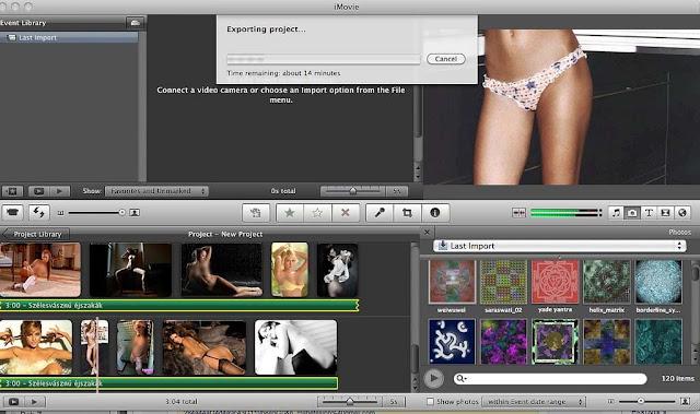Dashboard de iMovie
