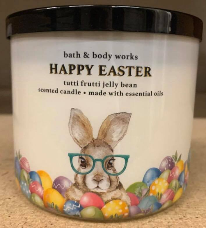 Bath And Bodyworks Body Works Fluffy Rabbit Bunny Magnet Topper Easter New