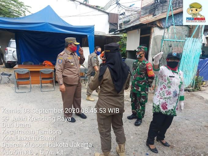 Gugus Tugas COVID-19, Kel Duri Utara Bersama Tiga Pilar Adakan Razia Masker  Dalam Rangka Pendisiplinan Masyarakat