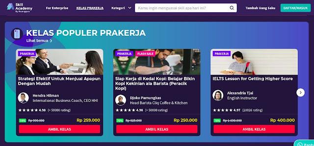 Harga Kursus Online Skill Akademi Murah