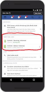 Cara cek riwayat login Akun Facebook