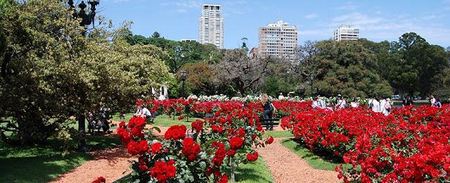 El Rosedal nos Bosques Palermo em Buenos Aires