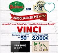 """Logo Buitoni con Birrificio Angelo Poretti #MeglioInsieme: vinci 26 TVc Samsung 50"""" e card IKEA da 2.000€"""