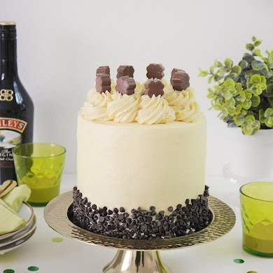 Chocolate Layer Cake with Baileys Condensed Milk Frosting