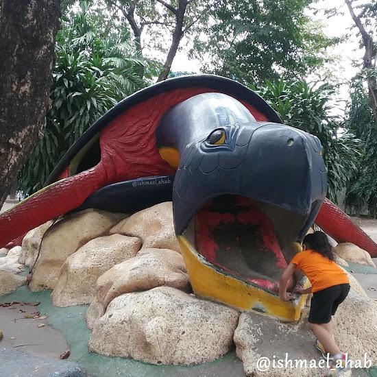 Giant sea turtle in Rizal Park Children's Playground