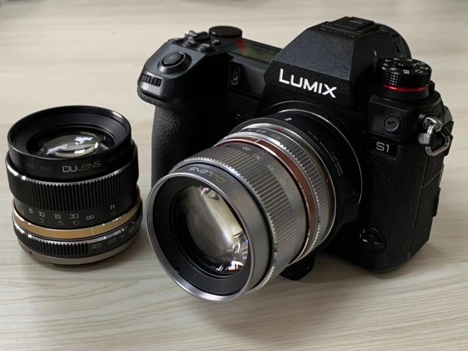 Объектив Dulens 85mm f/2 APO с камерой Panasonic Lumix S1